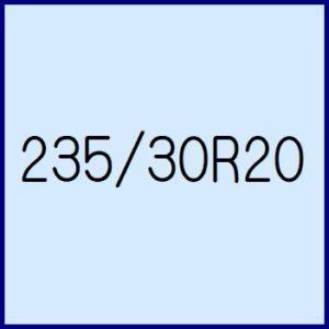 235/30R20