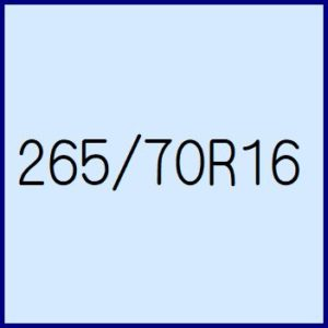 265/70R16